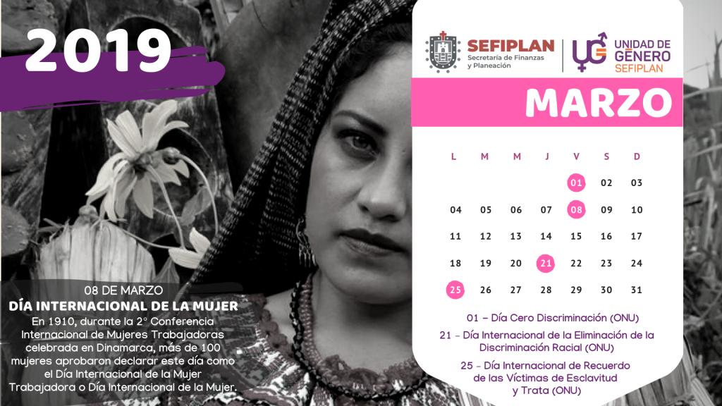 Calendario Género 2019 (1)